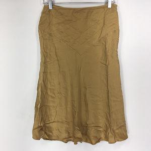 Hugo Buscati 10 Gold 100% Silk Skirt Vintage